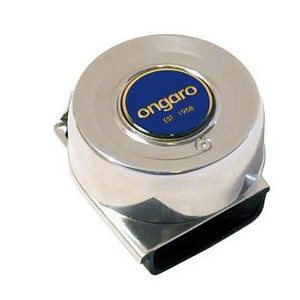 """Horn compact single Ongaro 105 db 3"""" X 3-1 / 4"""" X 1-3 / 4"""". stainless"""