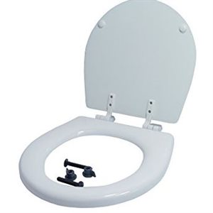 Toilet seat and lid for compact toilet