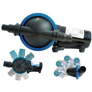 Pompe de vidange de douche 12V 4 GPM tête 360 deg