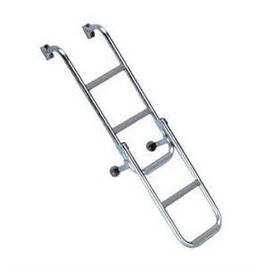 Ladder folding 2 + 3 steps stainless 316