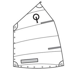 Voile Club Opti standard avec fenêtre