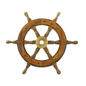 "Steering wheel wood 20"" 3 / 4""-5 / 8"" taper with SS cap"