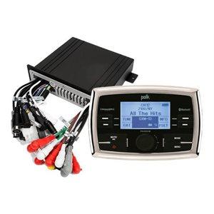 Polk PA450UM AM / FM / Weatherband USB Port iPod Control SiriusXM Satellite Ready Bluetooth Compatible Waterproof Marine Stereo