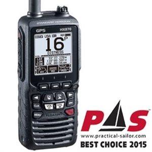 HX870 handheld VHF 6w floating with GPS