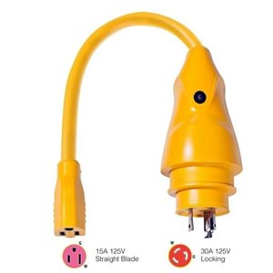 EEL pigtail adapter 15A female - 30A male
