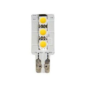 Ampoule DEL 12v cale d'un côté blanc