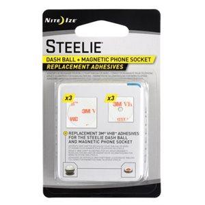 Steelie car mount adhesive replacement kit