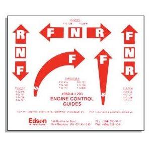 Edson engine control decals